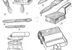 Инструменты для покраски стульев под старину