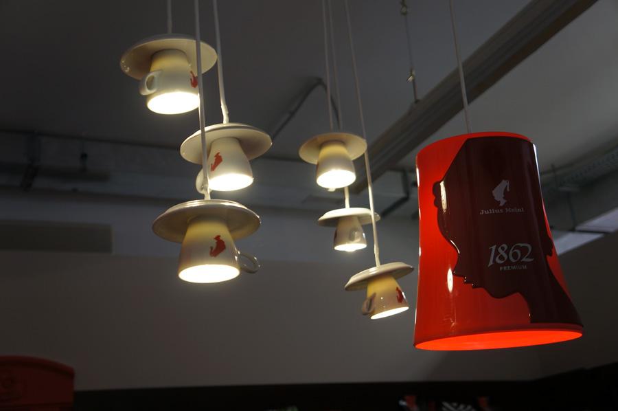 Светильники из чашек для кухни