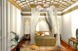 Элементы украшения комнаты в восточном стиле