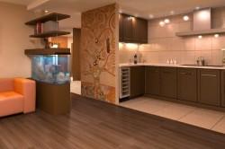 Полный снос стены между кухней и гостиной