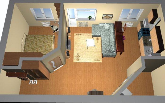 Разработка плана кухни гостиной