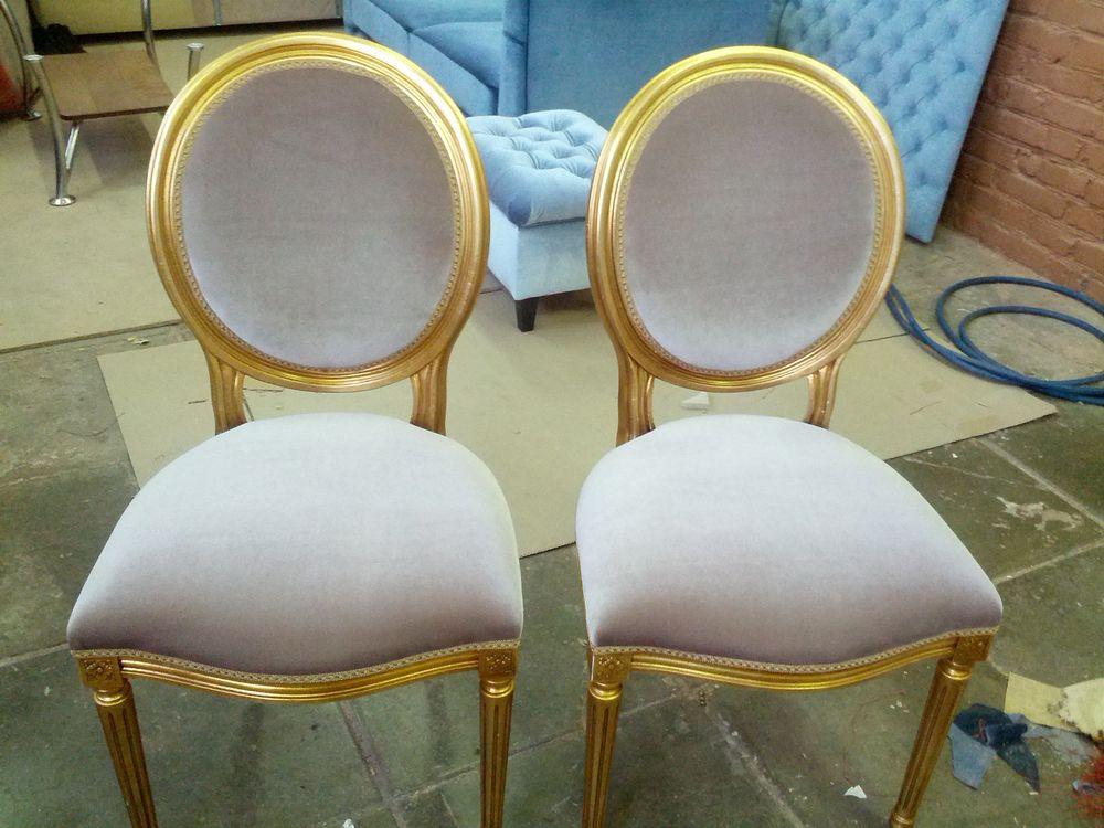 Обтяжка стула с мягким сиденьем