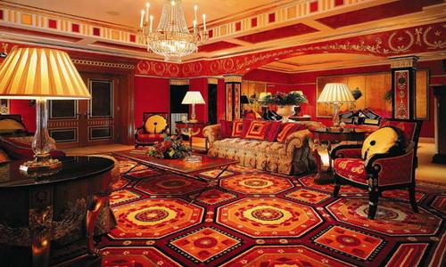 Пример интерьера комнаты в восточном стиле