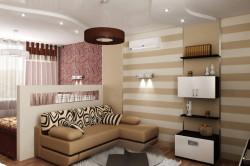 Разделение гостиной и спальни