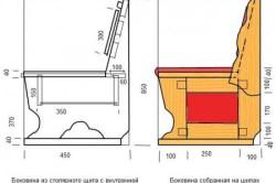 Схема боковины дивана