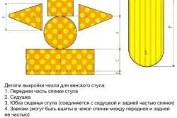 Схема выкройки чехла для стула