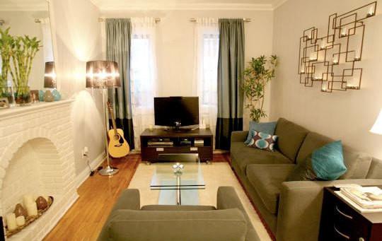 Вариант оформления гостиной в маленькой квартире
