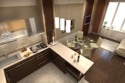 Дизайн гостиной с кухней