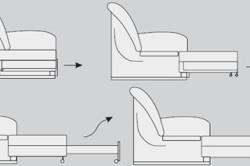 Схема выкатного дивана
