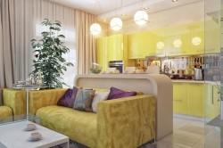 Освещение кухни с гостиной