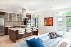 Проект гостиной совмещенной с кухней