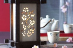 Пример светильника в японском стиле