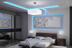 Комната с подсветкой потолка