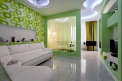 Дизайн гостиной, совмещенной со спальней