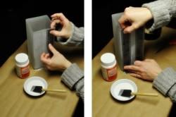 Изготовление лампы из фотопленок