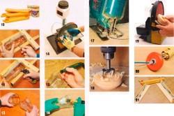 Последовательность изготовления деревянной люстры