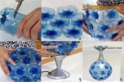 Последовательность изготовления люстры из пластиковых бутылок
