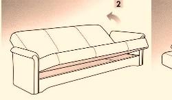 Схема раскладки диванов с механизмом трансформации Книжка