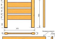 Схема размеров спинки кровати