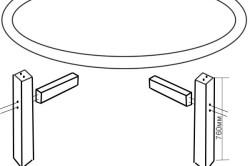 Схема сборки деталей стола