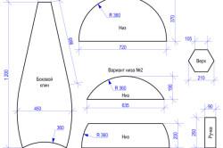 Выкройка деталей для кресла-груши