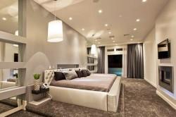 Точечное освещение в спальне