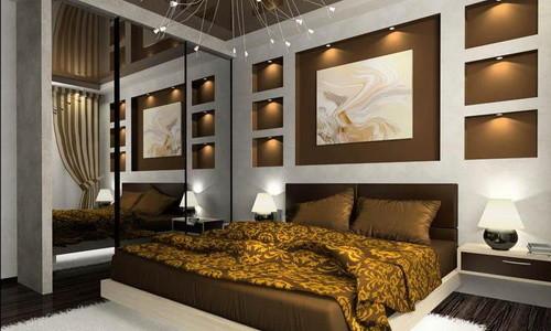 Организованное освещение в спальне