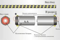 Схема светодиодного деревянного светильника