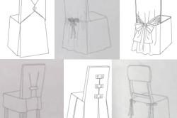 Схемы декорирования стульев при помощи ткани
