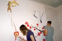 Как расписать стену своими руками: мастер-класс