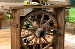 Мини бар из колеса от телеги