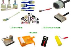Инструменты для покраски дверей
