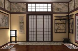 Японский светильник в интерьере