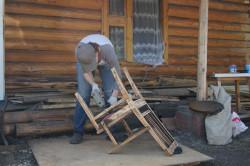 Шлифовка стула