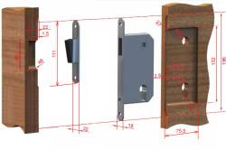Схема врезки замка в дверь