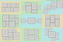 Варианты правильного размещения элементов панно