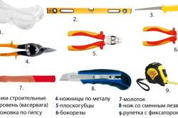Инструменты, которые могут понадобится при сгибании гипсокартона