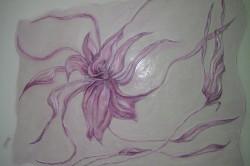 Объемный цветок на стене
