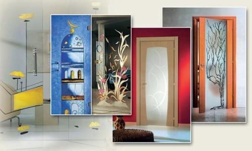 Разнообразные варианты декора дверей