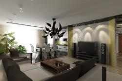 Дизайн столовой и гостиной