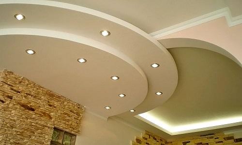 Двухуровневый потолок из гипсокартона