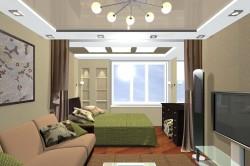 Зонирование помещения шторами