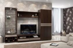 Выбор обоев под коричневую мебель