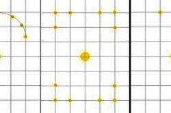 Варианты расположения точечных светильников