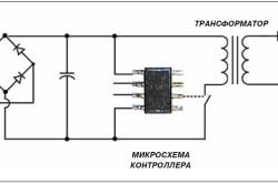 Электрическая схема диодной лампы