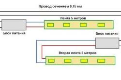 Схема подключения светодиодов