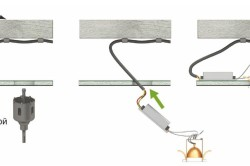 Установка точечных светильников на потолок
