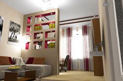 Декоративные перегородки в гостиной
