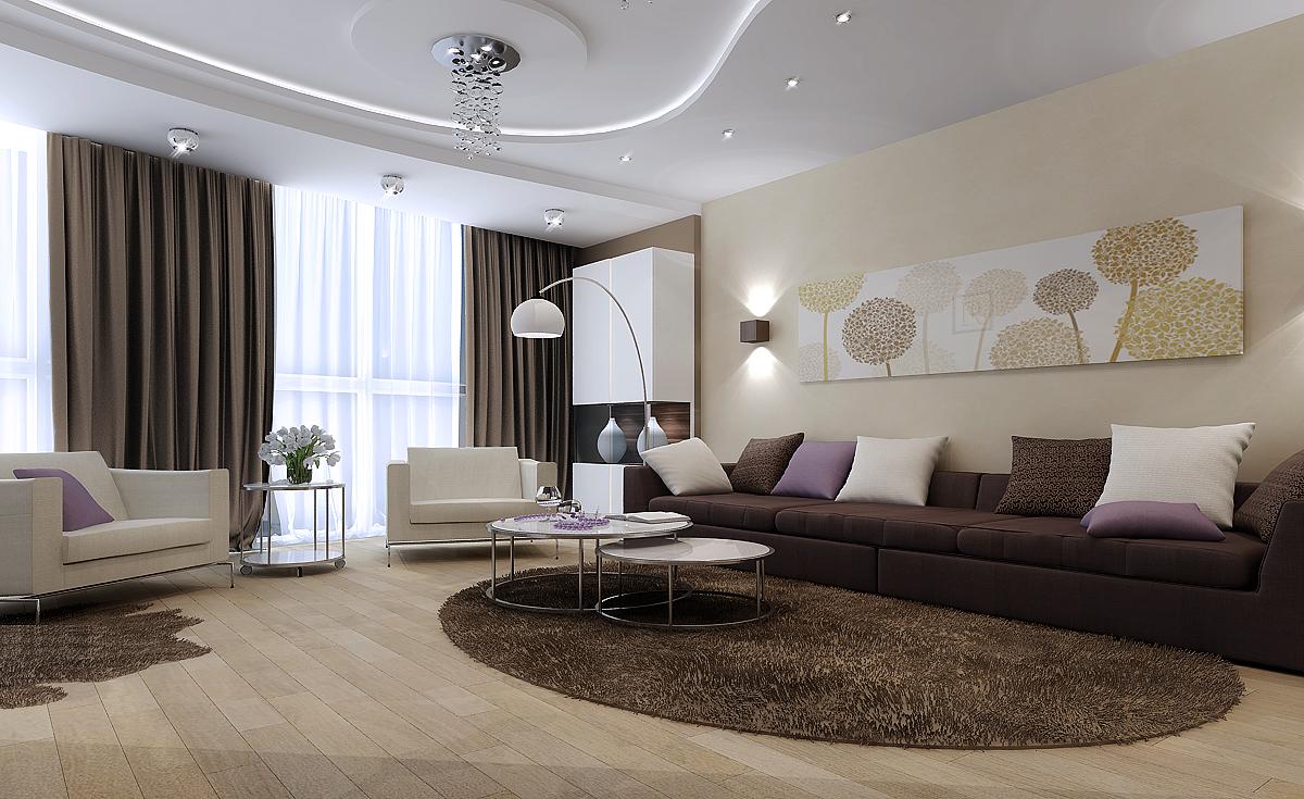 Оформления гостиной площадью в 9 м