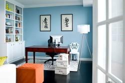 Секретер в дизайне гостиной